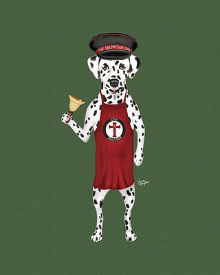 Green Dalmatian Army Art - raising money for the local animal shelter.