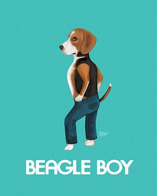 Beagle wearing Beagle Boy Jeans.