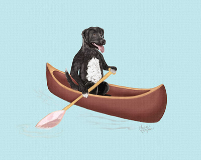 Mix Lab Paddling in Canoe
