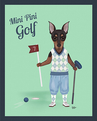 Min Pin playing the front 9 on a little golf course.