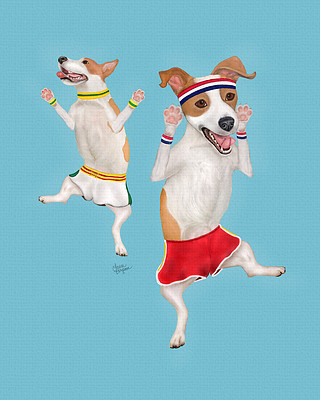 "Blue ""Jumping Jacks"" - Jack Russell Terrier Exercise"