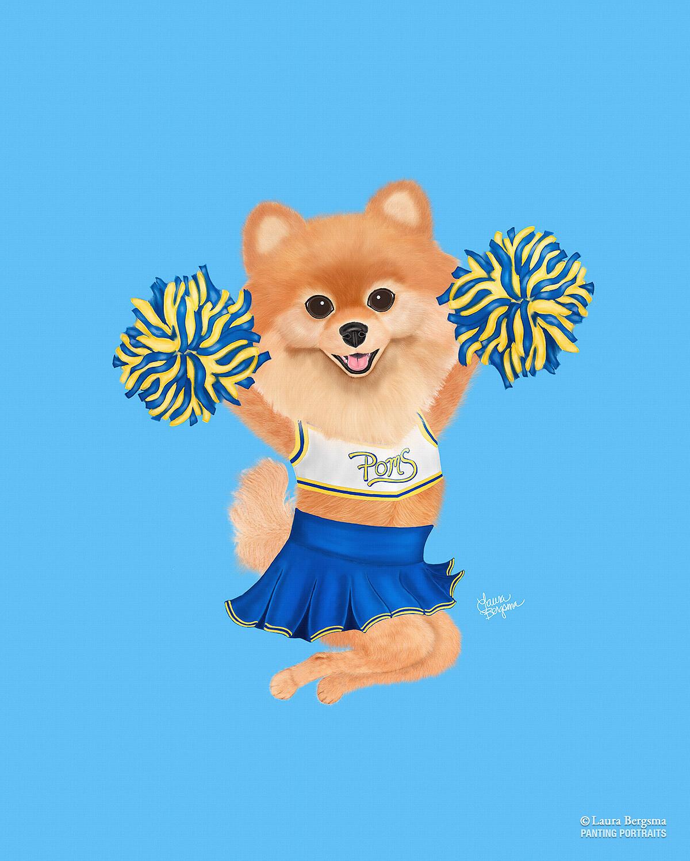 Cheerleading Pomeranian