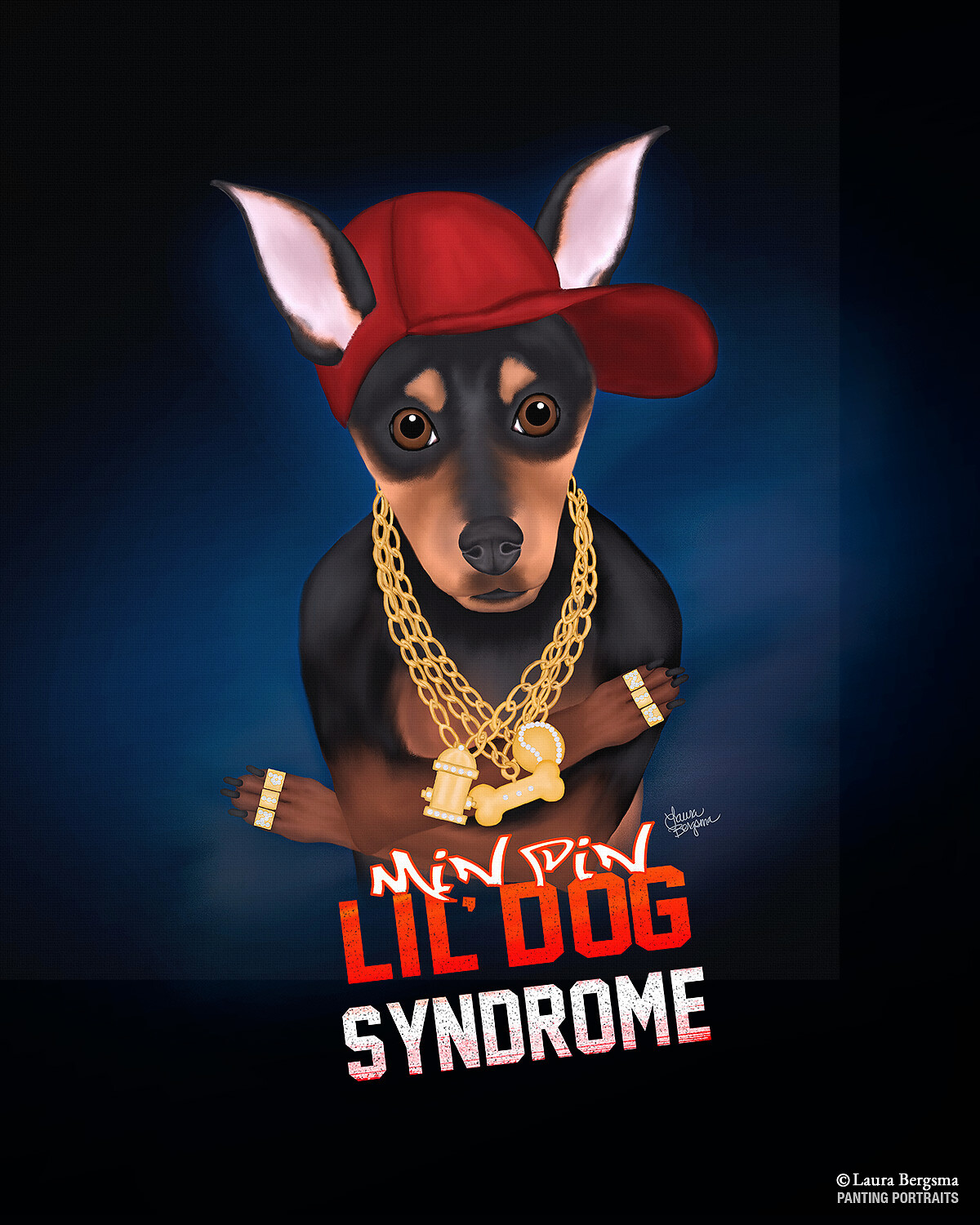 """Min Pin Album Cover """"Lil` Dog Syndrome"""""""